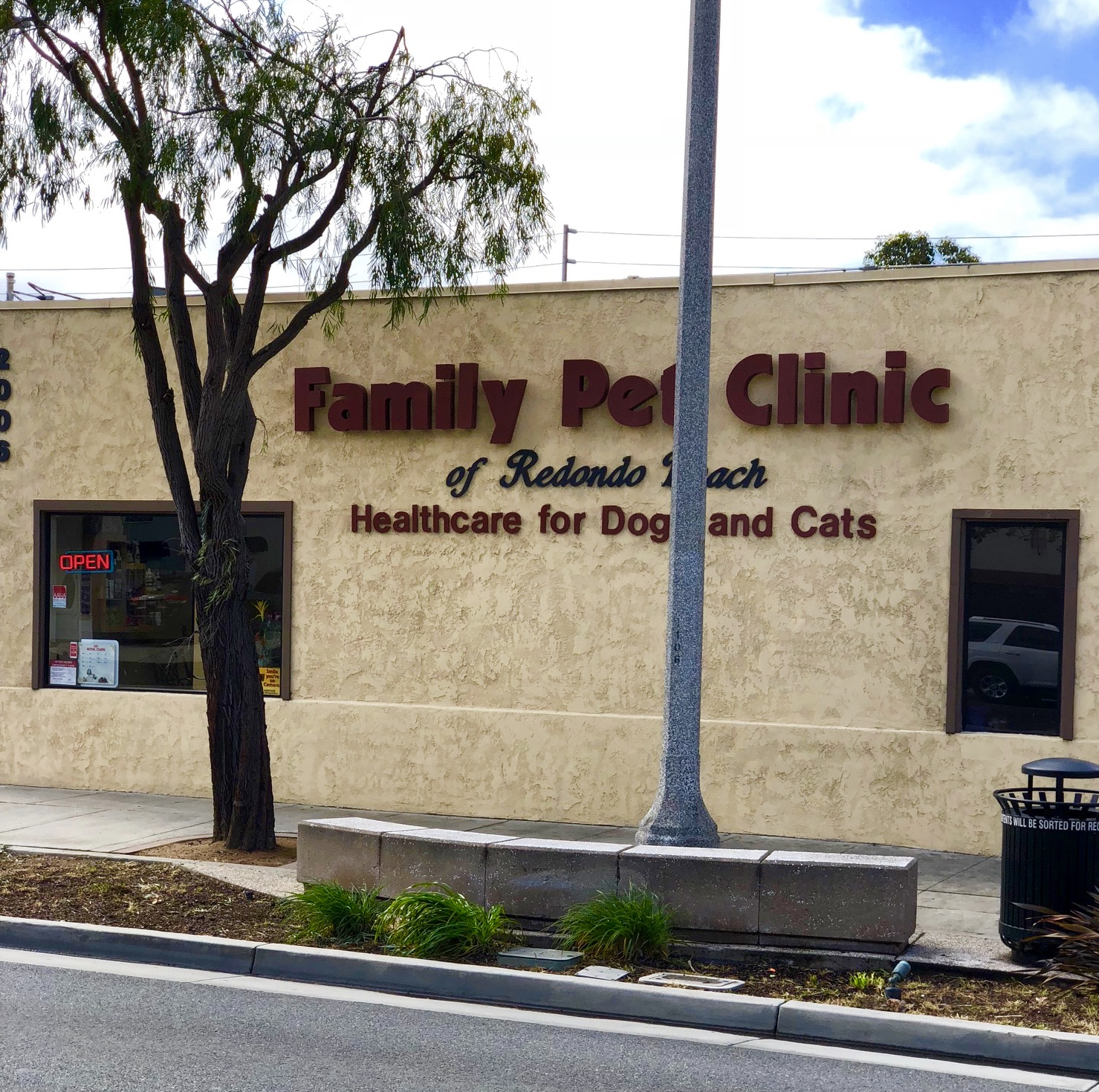 front of Family Pet Clinic